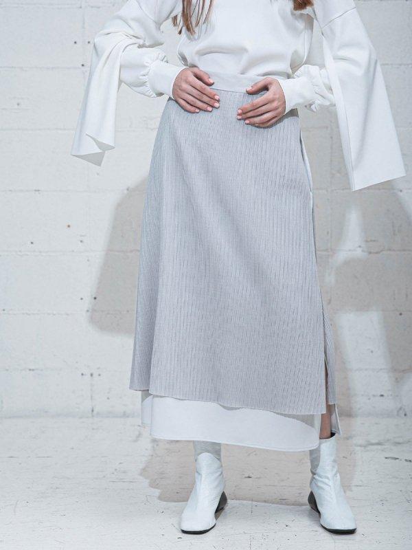 [UN-SOPHIE]プリーツレイヤードドッキングスカート