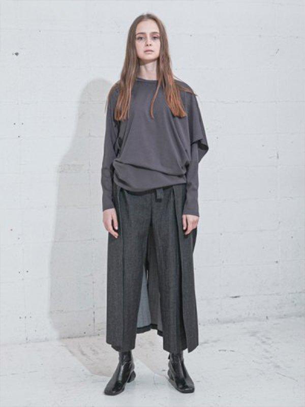 [UN-SOPHIE]スカートベルトデニムパンツ