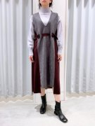 [Eimee Law]ベルトポイントVネックドレス