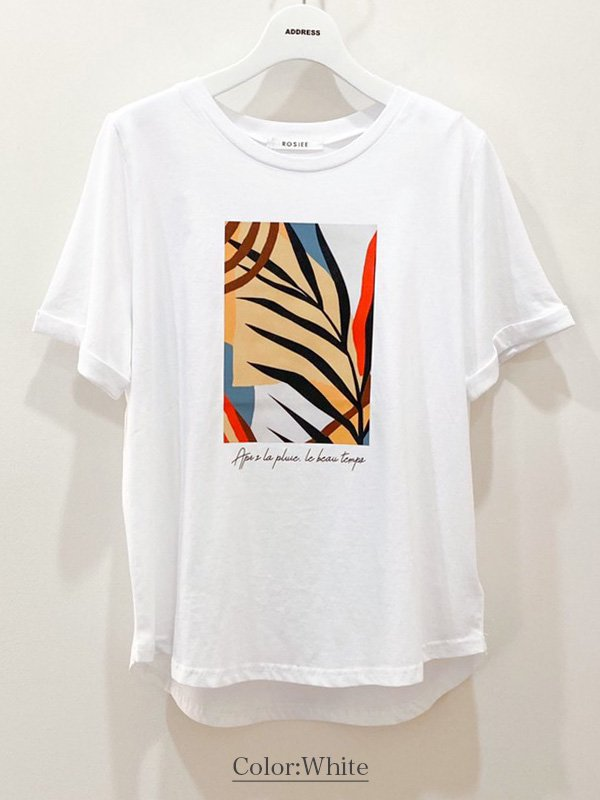 【20%OFF】[ROSIEE]アートプリントT/sh
