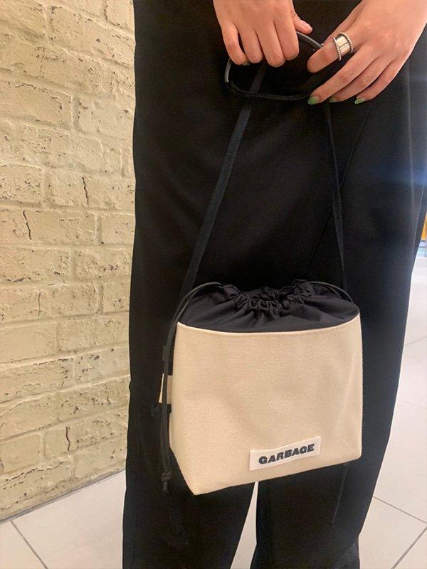 【受注販売】[GARBAGE]リメイクデニム巾着バッグ