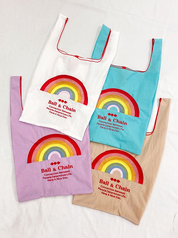 [Ball&Chain]Rainbow Eco bag