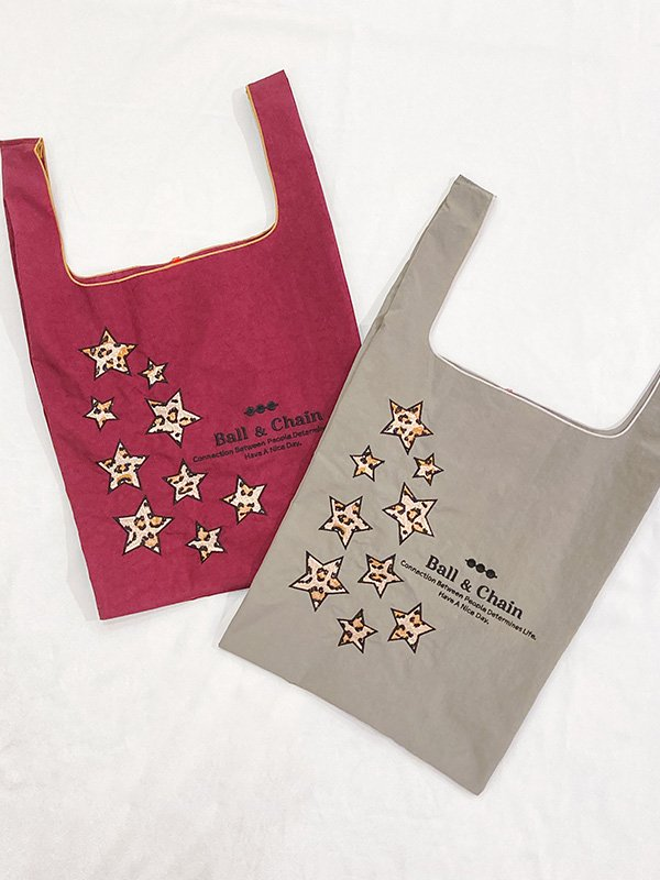 [Ball&Chain]Leopard Star Eco bag