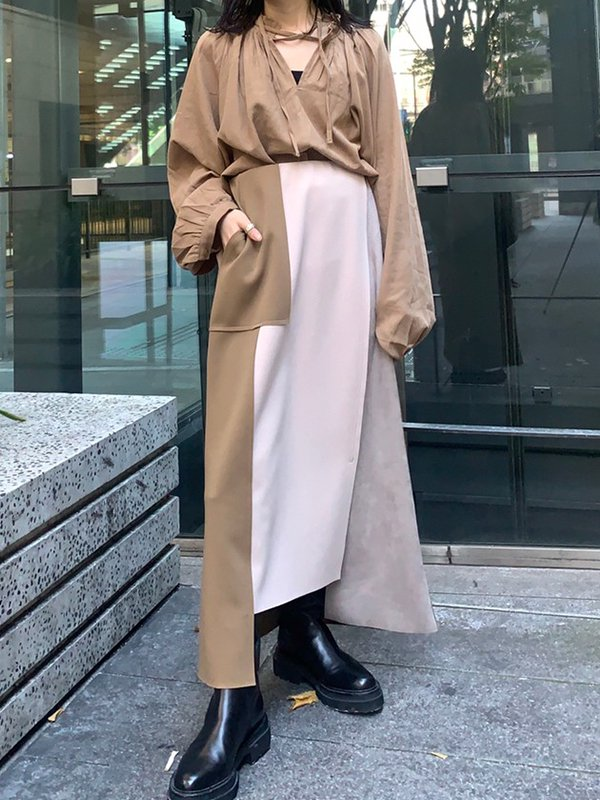 [Eimee Law]ハイウエストベルト ボンディングスカート