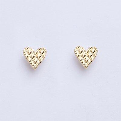 QUILTING HEART pierced earrings