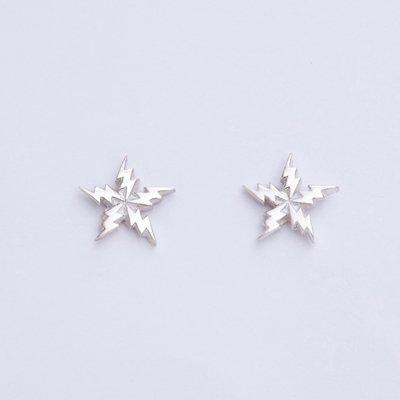 FLASH STAR SV pierced earrings
