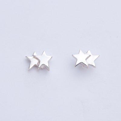 2 STARS SV pierced earrings