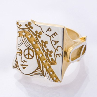 QUEEN ring gold