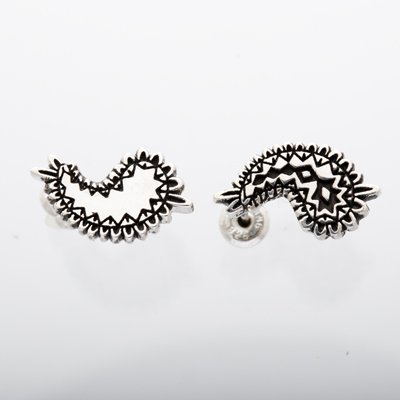 METAL PAISLEY pierced earrings