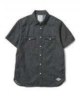 <img class='new_mark_img1' src='https://img.shop-pro.jp/img/new/icons35.gif' style='border:none;display:inline;margin:0px;padding:0px;width:auto;' />CRIMIE <BR>DENIM WESTERN S/S SHIRTS(BLACK)