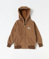 STUSSY KIDS <BR>Kids Canvas Worker Hoodie(MUSTARD) 【SOLD OUT】<img class='new_mark_img2' src='https://img.shop-pro.jp/img/new/icons50.gif' style='border:none;display:inline;margin:0px;padding:0px;width:auto;' />