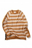 <img class='new_mark_img1' src='https://img.shop-pro.jp/img/new/icons35.gif' style='border:none;display:inline;margin:0px;padding:0px;width:auto;' />FACTOTUM <BR>2TONE BORDER KNIT CREW NECK(BROWN)