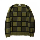 <img class='new_mark_img1' src='https://img.shop-pro.jp/img/new/icons35.gif' style='border:none;display:inline;margin:0px;padding:0px;width:auto;' />CALEE<BR> JACQUARD BLOCK CHECK CREW NECK KNIT SWEATER