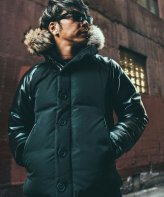 CRIMIE <BR>2WAY HOOD LEATHER SLEEVE DOWN JACKET 【SOLD OUT】<img class='new_mark_img2' src='https://img.shop-pro.jp/img/new/icons50.gif' style='border:none;display:inline;margin:0px;padding:0px;width:auto;' />