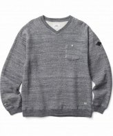CRIMIE <BR>ORIGINAL TSURIAMI V NECK SWEAT(CHARCOAL) 【SOLD OUT】<img class='new_mark_img2' src='https://img.shop-pro.jp/img/new/icons50.gif' style='border:none;display:inline;margin:0px;padding:0px;width:auto;' />