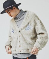 <img class='new_mark_img1' src='https://img.shop-pro.jp/img/new/icons15.gif' style='border:none;display:inline;margin:0px;padding:0px;width:auto;' />CHORD NUMBER EIGHT<BR>SWALLOW EMBROIDERY CARDIGAN(GRAY)