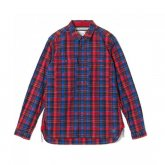 White Mountaineering<BR> MADRAS CHECK SHIRT(NAVY)【SOLD OUT】<img class='new_mark_img2' src='https://img.shop-pro.jp/img/new/icons50.gif' style='border:none;display:inline;margin:0px;padding:0px;width:auto;' />