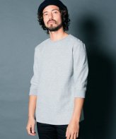 <img class='new_mark_img1' src='https://img.shop-pro.jp/img/new/icons15.gif' style='border:none;display:inline;margin:0px;padding:0px;width:auto;' />Magine<BR>CTN BOUCLE KNIT RIB SL C/N 3/4 SLEEVE(GRAY)