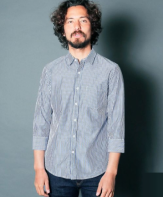 <img class='new_mark_img1' src='https://img.shop-pro.jp/img/new/icons15.gif' style='border:none;display:inline;margin:0px;padding:0px;width:auto;' />Magine<BR>CTN BROAD STRIPE SHIRTS 3/4 SLEEVE(NAVY)