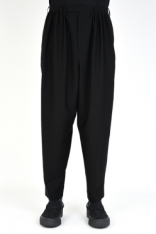 LAD MUSICIAN <BR>WOOL GABARDINE GATHER TAPERED SLACKS SOLD OUT<img class='new_mark_img2' src='https://img.shop-pro.jp/img/new/icons50.gif' style='border:none;display:inline;margin:0px;padding:0px;width:auto;' />