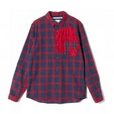 White Mountaineering<BR> PATCHED CHECK SHIRT【SOLD OUT】<img class='new_mark_img2' src='https://img.shop-pro.jp/img/new/icons50.gif' style='border:none;display:inline;margin:0px;padding:0px;width:auto;' />