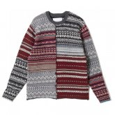 <img class='new_mark_img1' src='https://img.shop-pro.jp/img/new/icons35.gif' style='border:none;display:inline;margin:0px;padding:0px;width:auto;' />White Mountaineering<BR>JACQUARD PATCHWORK KNIT