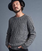 <img class='new_mark_img1' src='https://img.shop-pro.jp/img/new/icons35.gif' style='border:none;display:inline;margin:0px;padding:0px;width:auto;' />Magine<BR>W/AC ALAN KNIT C/N L/S(C.GRAY)