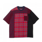 <img class='new_mark_img1' src='https://img.shop-pro.jp/img/new/icons15.gif' style='border:none;display:inline;margin:0px;padding:0px;width:auto;' />White Mountaineering<BR>CHECK CONTRASTED T-SHIRT(RED)