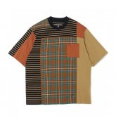 <img class='new_mark_img1' src='https://img.shop-pro.jp/img/new/icons15.gif' style='border:none;display:inline;margin:0px;padding:0px;width:auto;' />White Mountaineering<BR>CHECK CONTRASTED T-SHIRT(BROWN)