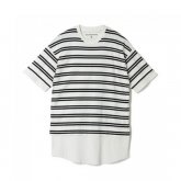 <img class='new_mark_img1' src='https://img.shop-pro.jp/img/new/icons15.gif' style='border:none;display:inline;margin:0px;padding:0px;width:auto;' />White Mountaineering<BR>STRIPE LAYERED T-SHIRT