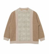 White Mountaineering<BR>MOCK NECK CONTRASRED PULLOVER(BEIGE) 【SOLD OUT】<img class='new_mark_img2' src='https://img.shop-pro.jp/img/new/icons50.gif' style='border:none;display:inline;margin:0px;padding:0px;width:auto;' />