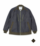 White Mountaineering<BR> GORE-TEX 8.5oz DENIM RAGLAN ZIP UP JACKET 【SOLD OUT】<img class='new_mark_img2' src='https://img.shop-pro.jp/img/new/icons50.gif' style='border:none;display:inline;margin:0px;padding:0px;width:auto;' />