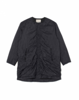 White Mountaineering<BR> SHRINKED QUILTED NO COLLAR COAT(BLACK)【SOLD OUT】<img class='new_mark_img2' src='https://img.shop-pro.jp/img/new/icons50.gif' style='border:none;display:inline;margin:0px;padding:0px;width:auto;' />