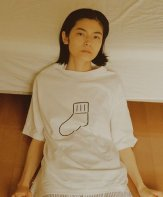 """UNIVERSAL PRODUCTS<BR>UP+N S/S TEE """"SOX"""" (WHITE) 【SOLD OUT】<img class='new_mark_img2' src='https://img.shop-pro.jp/img/new/icons50.gif' style='border:none;display:inline;margin:0px;padding:0px;width:auto;' />"""