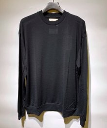 <img class='new_mark_img1' src='https://img.shop-pro.jp/img/new/icons15.gif' style='border:none;display:inline;margin:0px;padding:0px;width:auto;' />MARKAWARE <BR>CREW NECK WOOL TEE - Super 120's Wool Switzer KNIT -(BLACK)