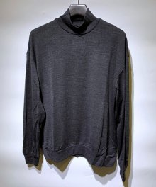 MARKAWARE <BR>MOCK NECK WOOL TEE - Super 120's Wool Switzer KNIT -(CHARCOAL)【SOLD OUT】<img class='new_mark_img2' src='https://img.shop-pro.jp/img/new/icons50.gif' style='border:none;display:inline;margin:0px;padding:0px;width:auto;' />