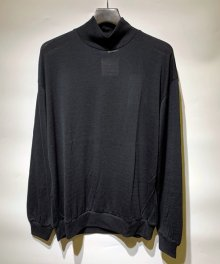 <img class='new_mark_img1' src='https://img.shop-pro.jp/img/new/icons15.gif' style='border:none;display:inline;margin:0px;padding:0px;width:auto;' />MARKAWARE <BR>MOCK NECK WOOL TEE - Super 120's Wool Switzer KNIT -(BLACK)