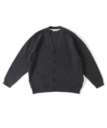 UNIVERSAL PRODUCTS<BR>CARDED MERINO WOOL CARDIGANE(CHARCOAL) 【SOLD OUT】<img class='new_mark_img2' src='https://img.shop-pro.jp/img/new/icons50.gif' style='border:none;display:inline;margin:0px;padding:0px;width:auto;' />