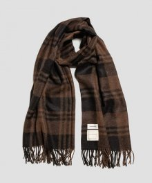 MARKAWARE <BR>NATURAL COLOR ALPACA STOLE(BROWN PLAID) 【SOLD OUT】<img class='new_mark_img2' src='https://img.shop-pro.jp/img/new/icons50.gif' style='border:none;display:inline;margin:0px;padding:0px;width:auto;' />