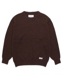 <img class='new_mark_img1' src='https://img.shop-pro.jp/img/new/icons15.gif' style='border:none;display:inline;margin:0px;padding:0px;width:auto;' />WACKOMARIA<BR>CLASSIC CREW NECK SWEATER(BROWN)