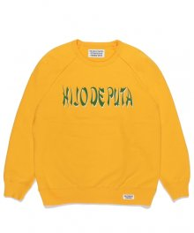 <img class='new_mark_img1' src='https://img.shop-pro.jp/img/new/icons15.gif' style='border:none;display:inline;margin:0px;padding:0px;width:auto;' />WACKOMARIA<BR>WASHED HEAVY WEIGHT CREW NECK SWEAT SHIRT(TYPE-4)(YELLOW)