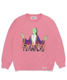 WACKOMARIA<BR>WASHED HEAVY WEIGHT CREW NECK SWEAT SHIRT(TYPE-3)(PINK) 【SOLD OUT】<img class='new_mark_img2' src='https://img.shop-pro.jp/img/new/icons50.gif' style='border:none;display:inline;margin:0px;padding:0px;width:auto;' />