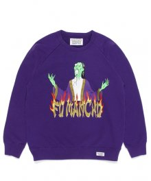 WACKOMARIA<BR>WASHED HEAVY WEIGHT CREW NECK SWEAT SHIRT(TYPE-3)(PURPLE)【SOLD OUT】<img class='new_mark_img2' src='https://img.shop-pro.jp/img/new/icons50.gif' style='border:none;display:inline;margin:0px;padding:0px;width:auto;' />