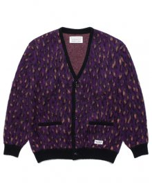 <img class='new_mark_img1' src='https://img.shop-pro.jp/img/new/icons15.gif' style='border:none;display:inline;margin:0px;padding:0px;width:auto;' />WACKOMARIA<BR>LEOPARD MOHAIR CARDIGAN(TYPE-1)