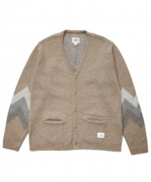 <img class='new_mark_img1' src='https://img.shop-pro.jp/img/new/icons15.gif' style='border:none;display:inline;margin:0px;padding:0px;width:auto;' />CRIMIE <BR>MOHAIR JACQUARD KNIT CARDIGAN