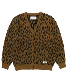WACKOMARIA<BR>LEOPARD HEAVY MOHAIR CARDIGAN(YELLOW)【SOLD OUT】<img class='new_mark_img2' src='https://img.shop-pro.jp/img/new/icons50.gif' style='border:none;display:inline;margin:0px;padding:0px;width:auto;' />