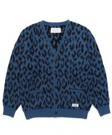 WACKOMARIA<BR>LEOPARD HEAVY MOHAIR CARDIGAN(BLUE)【SOLD OUT】<img class='new_mark_img2' src='https://img.shop-pro.jp/img/new/icons50.gif' style='border:none;display:inline;margin:0px;padding:0px;width:auto;' />