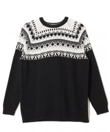 <img class='new_mark_img1' src='https://img.shop-pro.jp/img/new/icons15.gif' style='border:none;display:inline;margin:0px;padding:0px;width:auto;' />White Mountaineering<BR>NORDIC PATTERN CREW NECK KNIT