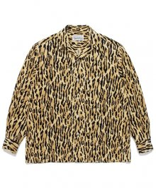 WACKOMARIA<BR> LEOPARD CORDUROY OPEN COLLAR SHIRT 【SOLD OUT】<img class='new_mark_img2' src='https://img.shop-pro.jp/img/new/icons50.gif' style='border:none;display:inline;margin:0px;padding:0px;width:auto;' />