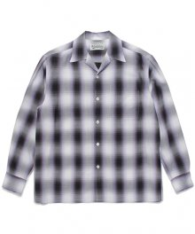 WACKOMARIA<BR> OMBRAY CHECK OPEN COLLAR SHIRT(TYPE-2)(PURPLE)【SOLD OUT】<img class='new_mark_img2' src='https://img.shop-pro.jp/img/new/icons50.gif' style='border:none;display:inline;margin:0px;padding:0px;width:auto;' />